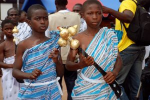 Sword bearers of the Akuapem tribe in Gh